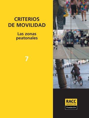 Las zonas peatonales - Racc