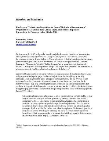 Hamleto en Esperanto