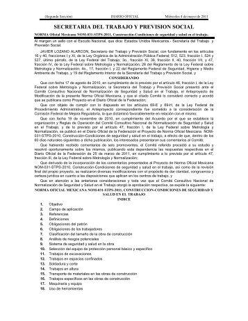 NOM-031-STPS-2011 - Normas Oficiales Mexicanas de Seguridad y ...