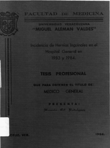u¡- TESIS PROFESIONAL MEDIO i NERAl - Universidad Veracruzana