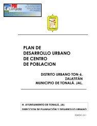 plan de desarrollo urbano de centro de poblacion distrito ... - Tonalá