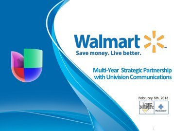 Walmart Strategic Partnership - Univision