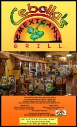 Sunday Brunch Jefferson and Dupont Locations only - Cebolla's ...