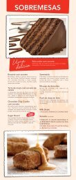 Cardápio Sobremesas - Pizza Hut