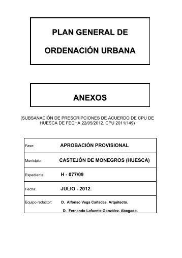 pgou anexos - Castejon de Monegros