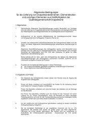 Allgemeine Bedingungen für die Lieferung von ...