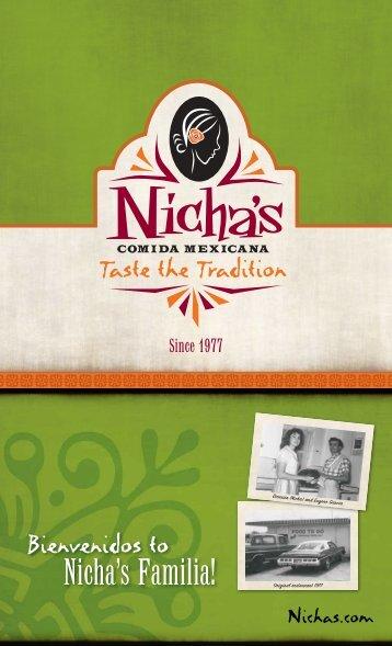 Nicha's Menu - Nicha's Comida Mexicana