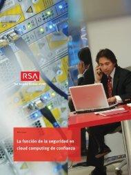La función de la seguridad en cloud computing de confianza - RSA