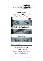 Dossier Prensa Delicadas - Teatro Español