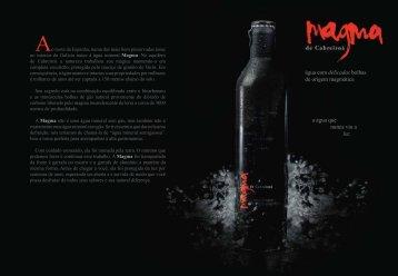 água com delicadas bolhas de origem magmática ... - Estrella Galicia