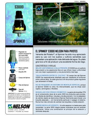 S3000 SPINNER - Nelson Irrigation
