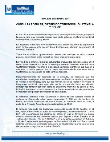 Tema eje 2013 seminario. - Ministerio de Educación - Guatemala