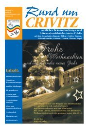 Bekanntmachung - Amt Crivitz