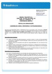 BRASIL TELECOM S.A. CNPJ/MF: 76.535.764/0001-43 NIRE 53 3 ...