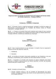 Regimento Interno de Atuação do Conselho Fiscal da ... - Uniplac