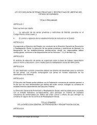 LEY DE EJECUCIÓN DE PENAS PRIVATIVAS Y RESTRICTIVAS ...