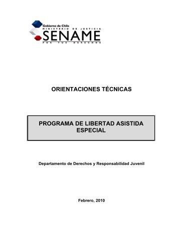 orientaciones técnicas programa de libertad asistida ... - Sename