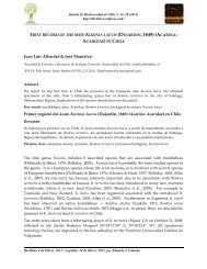 (Dujardin, 1849) (Acarina: Acaridae) en Chile - boletín de ...