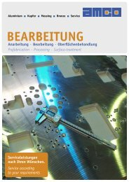 Flyer Bearbeitung - AMCO Metall-Service Gmbh