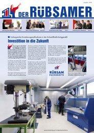 Investition in die Zukunft - Rübsam Gesellschaft für ...