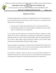 CERTAMEN FINAL DE DELETREO EN ESPAÑOL ... - NYU Steinhardt