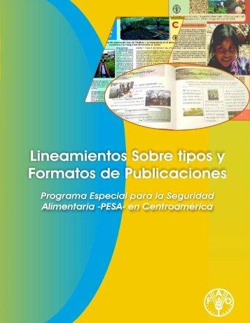 Lineamientos Sobre tipos y Formatos de Publicaciones - PESA ...