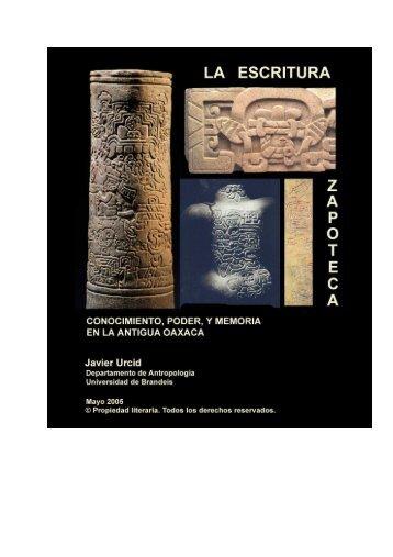 La Escritura Zapoteca por Javier Urcid – Texto - Famsi