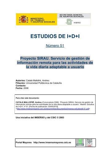 ESTUDIOS DE I+D+I - Portal Mayores