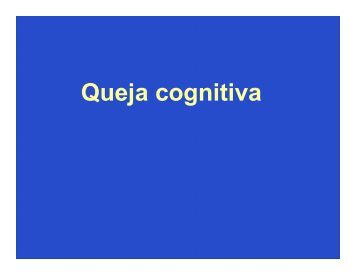 Queja cognitiva - Meducar
