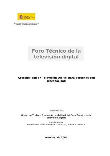 Accesibilidad en Televisión Digital - Real Patronato sobre ...