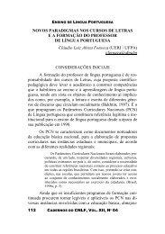 Novos paradigmas nos cursos de Letras e a formação do ... - CiFEFiL