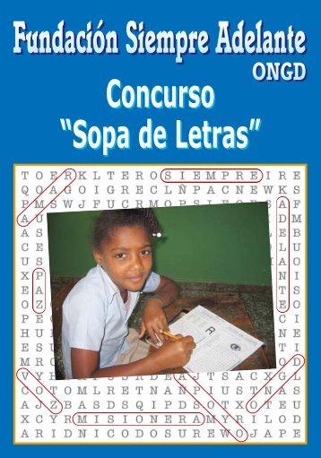 Libro sopas de letras 2012 - Fundación Siempre Adelante