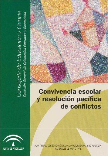 Convivencia escolar y resolución pacífica de conflictos (pdf)