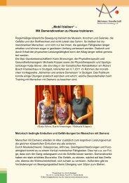 Mobil bleiben - Alzheimer Gesellschaft Baden-Württemberg
