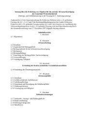 Satzung über die Erhebung von Abgaben für die zentrale ...