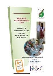 Manual de Convivencia 2012 - colegio domingo savio