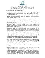 regulamento geral 45º campeonato de futebol mini-campo / 2012 ...