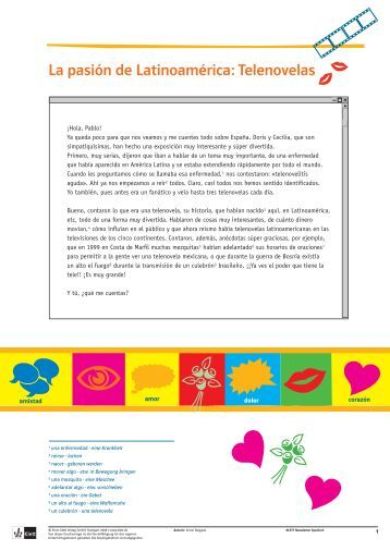 La pasión de Latinoamérica: Telenovelas - Ernst Klett Verlag