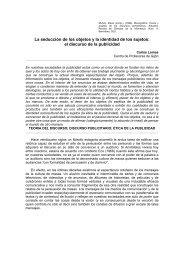 La seducción de los objetos y la identidad - Reforma de la ...