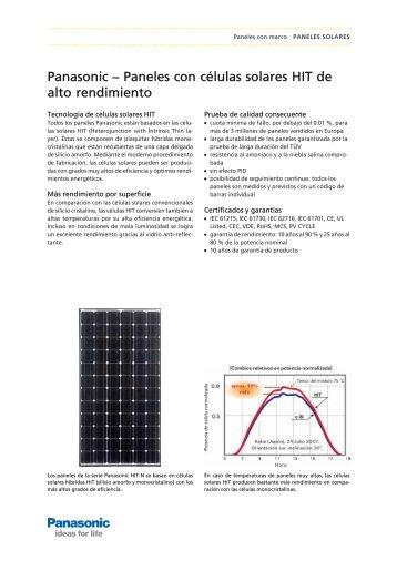 Panasonic – Paneles con células solares HIT de alto ... - Tritec