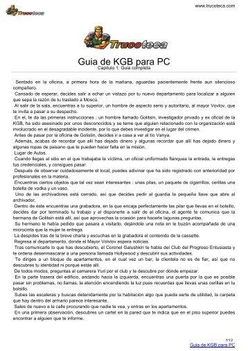 Guia de KGB para PC - Trucoteca.com