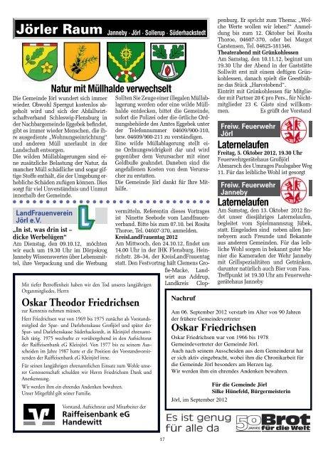 Nr. 10 · Oktober 2012 · 40. Jahrgang ... - Amt Eggebek