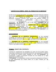 CONTRATO DE COMPRA - VENTA DE PRODUCTOS Y/O ... - Siicex