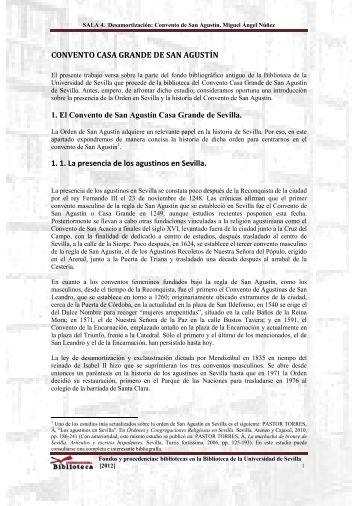 SALA 4. Desamortización: Convento de San Agustín. Miguel Ángel ...