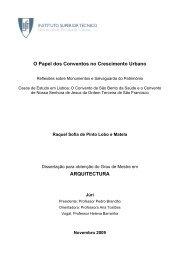 O Papel dos Conventos no Crescimento Urbano - Universidade ...