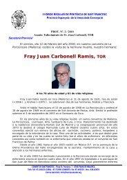 Fr. Joan Carbonell - Tercera Orden Regular
