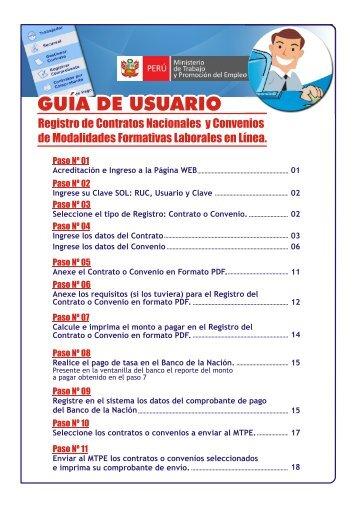 Registro de Contratos Nacionales y Convenios de Modalidades ...