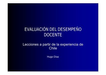 EVALUACIÓN DEL DESEMPEÑO DOCENTE - Ciberdocencia