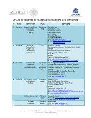Listado de contrapartes de los convenios de la - Universidad