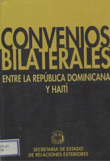 convenios bilaterales - Ministerio de Relaciones Exteriores
